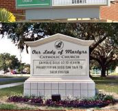 Church Sign Battle