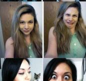 Girls Have Different Faces For Different Occasions