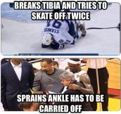 The Difference Between Hockey And Basketball