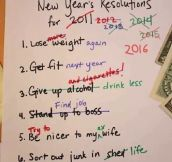 Rearranging My New Year's Resolutions