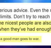 Nice People Have Their Limits