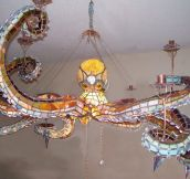 Magnificent Octopus Chandelier