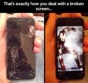 Dealing With A Broken Screen