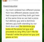 Domino's Vs. Pizza Hut Encounter