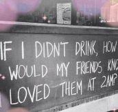 The Reason I Drink
