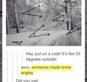 Apparently Someone Made Snow Angles