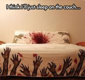 Bed Attacked By Zombies