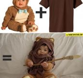 Bear Costume + Brown T-Shirt = Pure Awesomeness
