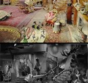 The Addams Family's Famous Living Room