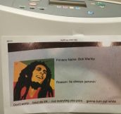 Bob Marley The Printer