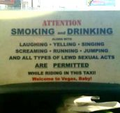 Vegas Taxi Rules
