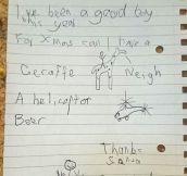 Dear Santa, Here's My Wishlist