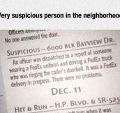 Suspicious Person Spotted