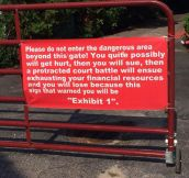 Most Honest 'Do Not Enter' Sign Ever