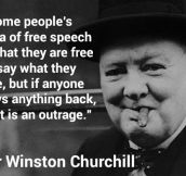 Free Speech According To Some People