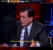 Colbert Interviewing God