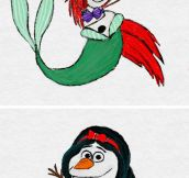 If Olaf Was Actually A Disney Princess