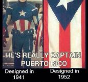 The Captain And Puerto Rico's Flag