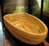 This Magnificent Wooden Bathtub