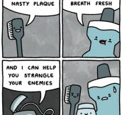 Why Dental Floss Doesn't Get Invited To Parties