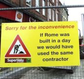 We're Sorry For The Inconvenience