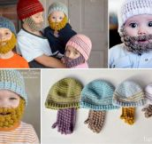 Knitted Beanie Beard Win