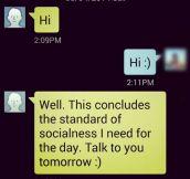 Standard Of Socialness