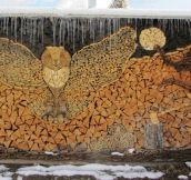 Owl Wood Stack Art