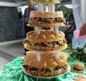 Epic Burger Wedding Cake