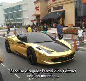 Solid Gold Ferrari