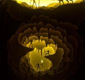 Illuminated Paper Cut Light Box Dioramas