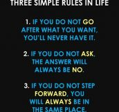 There Are Three Simple Rules In Life