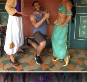 This Man Likes To Propose To Disney Princesses