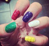 Lego Brick Nails