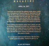 Alan Rickman's Words