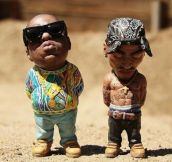The Coolest Garden Gnomes Ever: Biggie Smalls And Tupac
