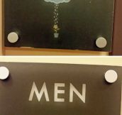Clever Bathroom Signs