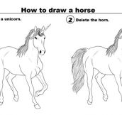 Proper Way To Draw A Horse