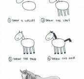 How To Properly Draw A Horse