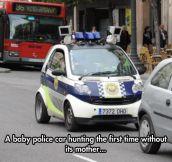 Newborn Police Car