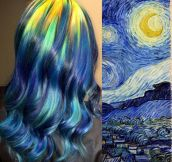 Starry Night Dyed Hair