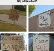 Yard Sale Difficulties