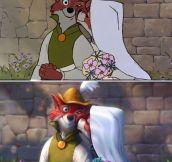 Painting Over Classic Disney Movie Stills