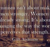 Some Powerful Words From G.D. Anderson