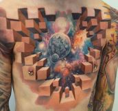 Amazing Chest Piece Tattoo