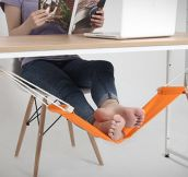 Now I Want An Under-The-Desk Foot Hammock