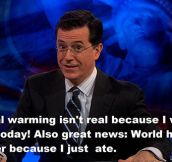 Stephen Colbert's Opinion On Climate Change