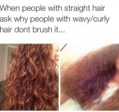 Brushing Your Curly Hair