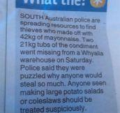 The Mayonnaise Bandits