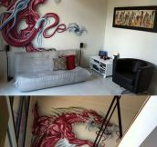 Amazing Red Dragon Paint Job